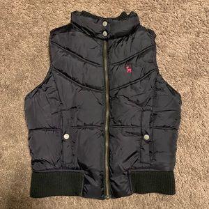 Old Navy Girls Fleece Lined Puffer Vest Medium